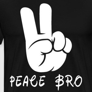 Peace Sign Hand Gesture Peace Brother Bro - Men's Premium T-Shirt