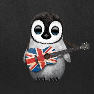 British Guitar Penguin Bags & backpacks - Tote Bag