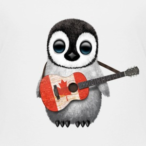 Canada Guitar Penguin Baby & Toddler Shirts - Toddler Premium T-Shirt