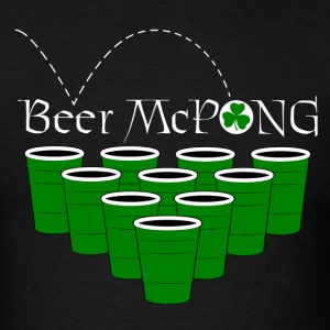 Irish Beer McPong Drinking Game Tees - Men's T-Shirt