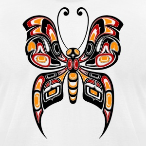 Yellow Haida Butterfly T-Shirts - Men's T-Shirt by American Apparel