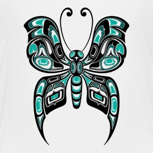 Teal Blue Haida Butterfly Baby & Toddler Shirts - Toddler Premium T-Shirt