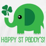 Design ~ Irish St Paddys Day Womens T-shirt (Funny Elephant)