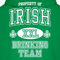St Patrick's Irish Drinking Team Hoodies