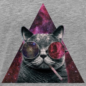 Hipster Cat Smoking T-Shirts - Men's Premium T-Shirt