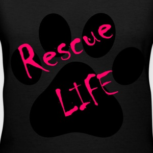 Rescue Life Ladies V Neck Shirt - Women's V-Neck T-Shirt