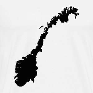 Norway Map - Men's Premium T-Shirt