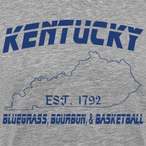 Kentucky Bluegrass Bourbon and Basketball T-Shirt - Men's Premium T-Shirt