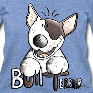 Funny Bull Terrier Long Sleeve Shirts - Women's Wideneck Sweatshirt