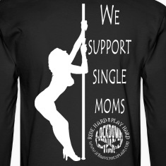Men's Long Sleeve t-shirt (stripper back)