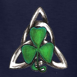 Celtic knot with shamrock - Kids' T-Shirt