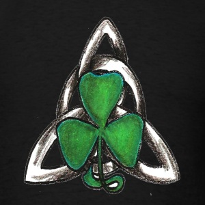 Celtic knot with shamrock - Men's T-Shirt