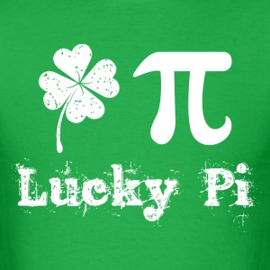 celebrate st patricks day and pi day T-Shirts - Men's T-Shirt