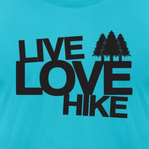 Live Love Hike | Hiking T-Shirts - Men's T-Shirt by American Apparel