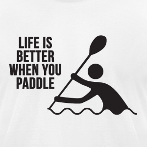 Live Love Paddle | Kayak T-Shirts - Men's T-Shirt by American Apparel