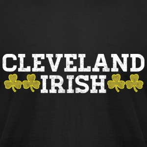 Cleveland Ohio Irish Pride Shamrock Shirt Ireland T-Shirts - Men's T-Shirt by American Apparel