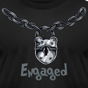 Engaged Engagement Announcement Engagement Party - Men's T-Shirt by American Apparel