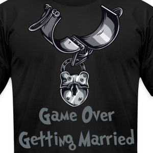 Game Over Getting Married Engaged - Men's T-Shirt by American Apparel