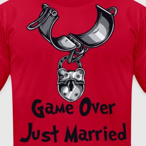 Game Over Just Married - Men's T-Shirt by American Apparel