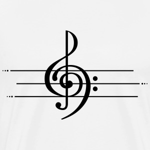 music note tattoo - Men's Premium T-Shirt