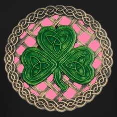 Pink Shamrock And Celtic Knots Long Sleeve Shirt