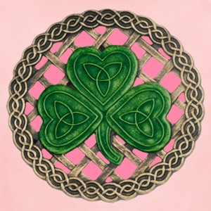 Pink Shamrock And Celtic Knots Baby One Piece - Short Sleeve Baby Bodysuit