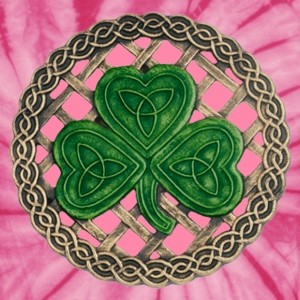 Pink Shamrock And Celtic Knots Shirt - Unisex Tie Dye T-Shirt