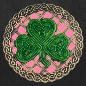 Pink Shamrock And Celtic Knots Tote Bag - Tote Bag