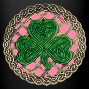 Pink Shamrock And Celtic Knots Mug - Full Color Mug