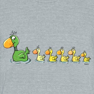 Sweet Family Of Ducks T-Shirts - Unisex Tri-Blend T-Shirt by American Apparel