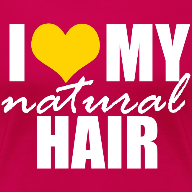 Hot Pink I Love My Hair T-shirt in Yellow