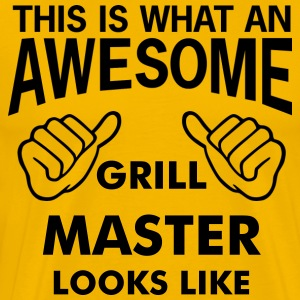 this is what an awesome grill master looks like - Men's Premium T-Shirt