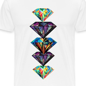 Diamonds show off - Men's Premium T-Shirt