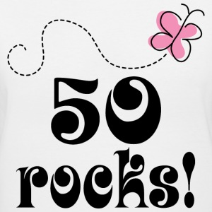 50th Birthday 50 Rocks Women's T-Shirts - Women's V-Neck T-Shirt