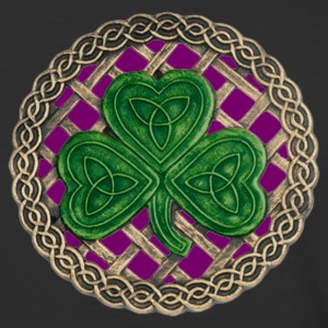 Purple Shamrock And Celtic Knots Shirt - Baseball T-Shirt