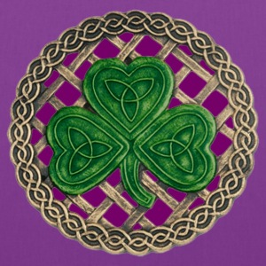 Purple Shamrock And Celtic Knots Tote Bag - Tote Bag