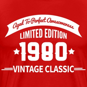 Birthday 1980 Vintage Classic Aged To Perfection - Men's Premium T-Shirt