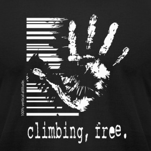 Climbing, Free - black t-shirt - Men's T-Shirt by American Apparel