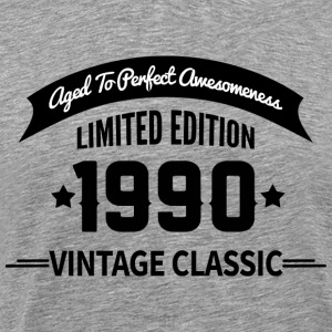 Birthday 1990 Vintage Classic Aged To Perfection - Men's Premium T-Shirt
