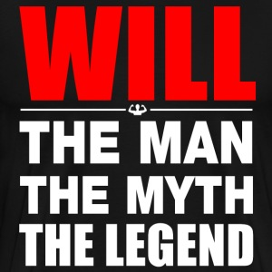 Will Man Myth Legend T-Shirts - Men's Premium T-Shirt