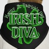 St Patrick's Day Shamrock - Irish Diva - Dog Bandana