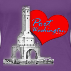 I Love Port Washington WI Ladies - Women's Premium T-Shirt