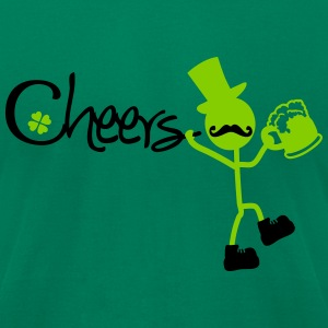 Cheers st.paddy's day Men's T-Shirt by American Ap - Men's T-Shirt by American Apparel
