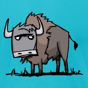 American Bison - Men's T-Shirt by American Apparel