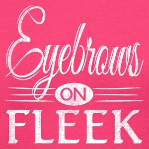Eyebrows on Fleek White Distressed Look - Women's V-Neck T-Shirt