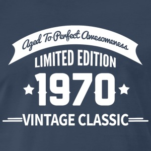 Birthday 1970 Vintage Classic Aged To Perfection - Men's Premium T-Shirt