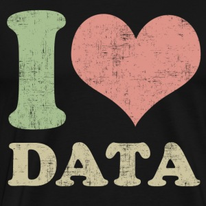 I Love Data T-Shirts - Men's Premium T-Shirt