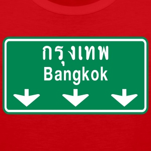 Bangkok Ahead ~ Watch Out! Thailand Traffic Sign - Men's Premium Tank