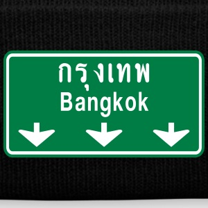 Bangkok Ahead ~ Watch Out! Thailand Traffic Sign - Knit Cap with Cuff Print