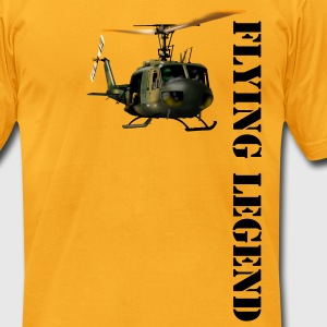 Helicopter Huey - Men's T-Shirt by American Apparel